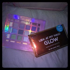 Ulta 30 color eyeshadow pallet and highlighter